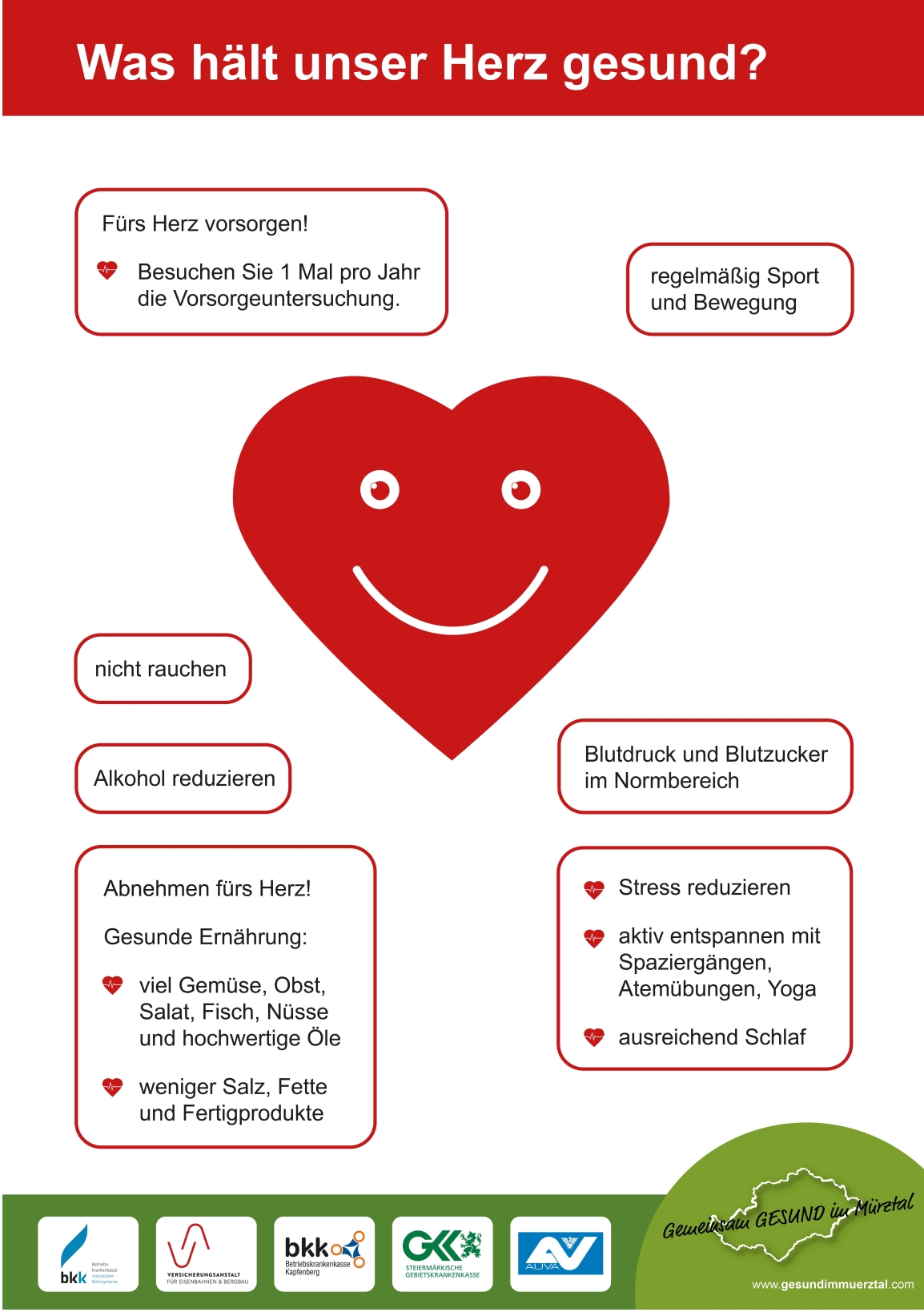 Herzgesundheit – Genusstag Kapfenberg – Gemeinsam GESUND im Mürztal