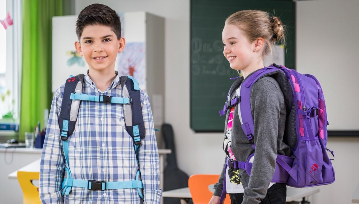 Foto: Die richtige Schultasche für einen gesunden Rücken © R.Reichhart