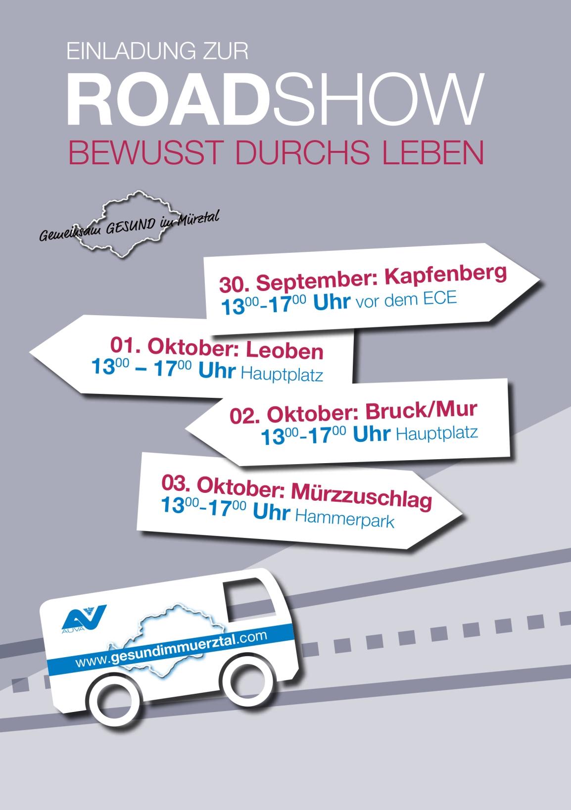 Gemeinsam GESUND im Mürztal - Roadshow Termine – Genusstag Kapfenberg 2019
