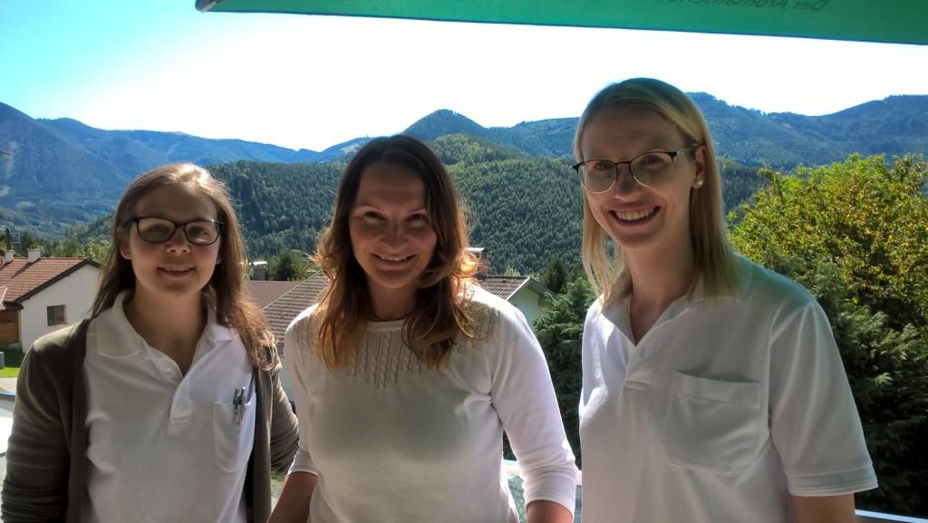 Drei Diätoliginnen auf einen Streich, v.l.n.r. Corinna Kainrad, Doris Schwarz, Tanja Friesenbichler, ©Gesundheitseinrichtung Breitenstein